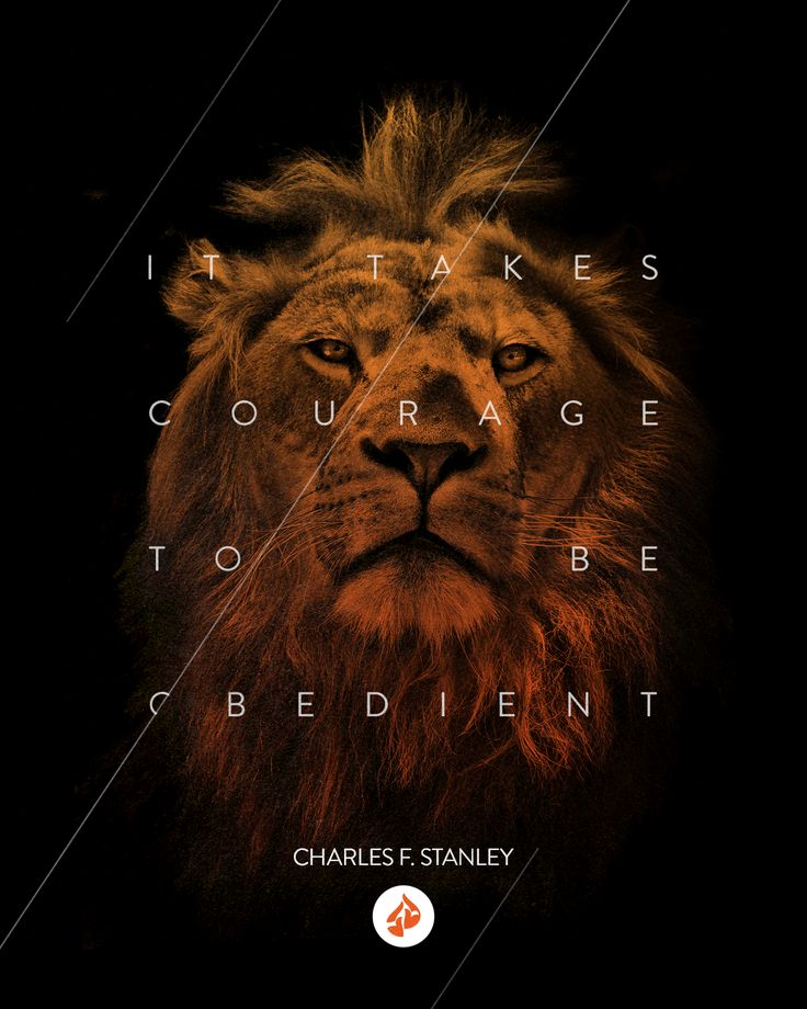 "If you live an obedient life, you're going to face circumstances that are difficult. Yet we have to be courageous, bold, and obedient to God.   Watch ""What Does Obedience Require?"" from Dr. Charles Stanley at intouch.org/watch."