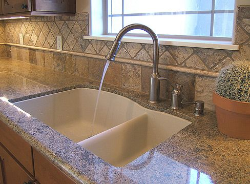 Exceptional The One And A Half Kitchen Sink  Nice Also To Have A Deep Sink And A Tall  Tap!