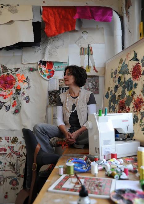Louise Gardiner in her studio 2009
