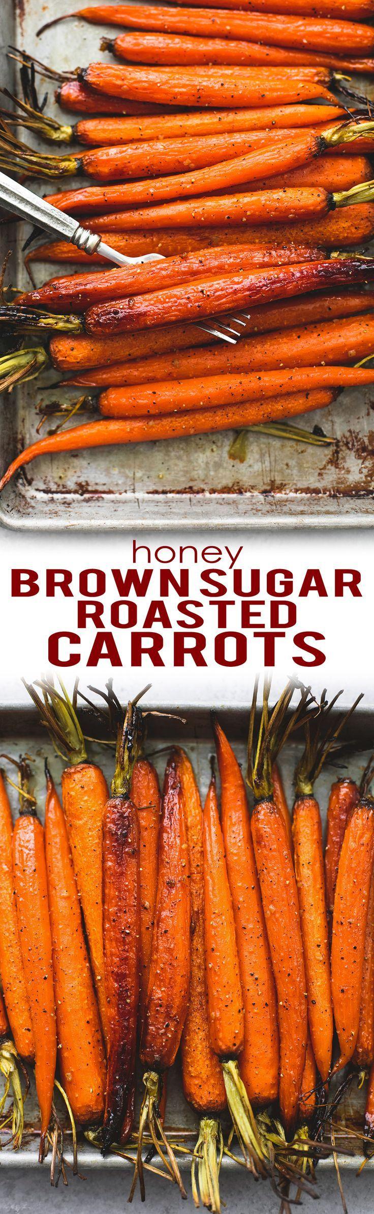 Honey Brown Sugar Roasted Carrots | http://lecremedelacrumb.com
