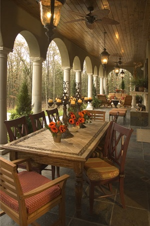 Dining on the Loggia