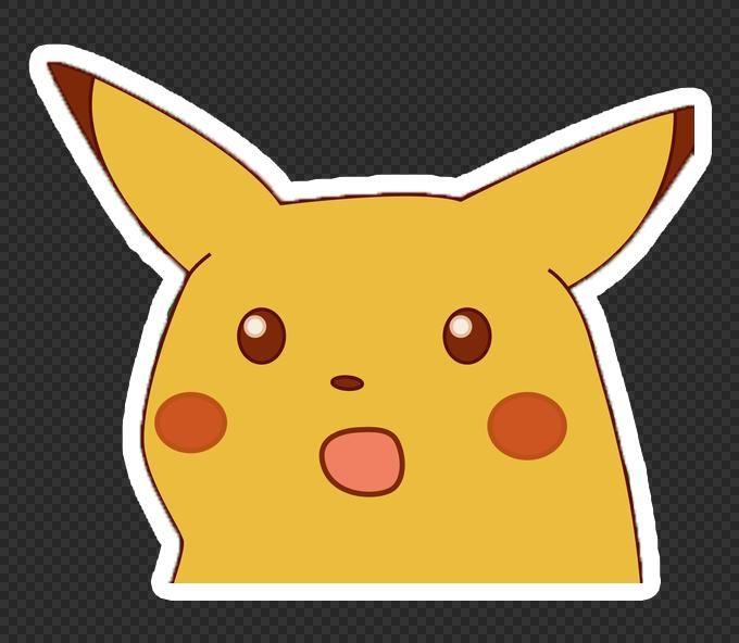 Surprised Pikachu Meme Meme Stickers Anime Stickers Painting Memes