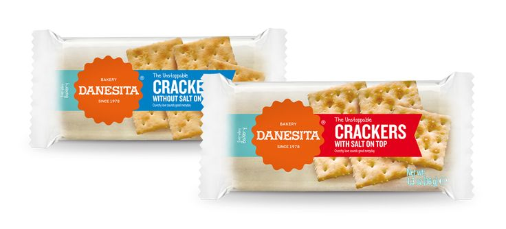 Gama Crackers Danesita #packaging #design #food #crackers #international
