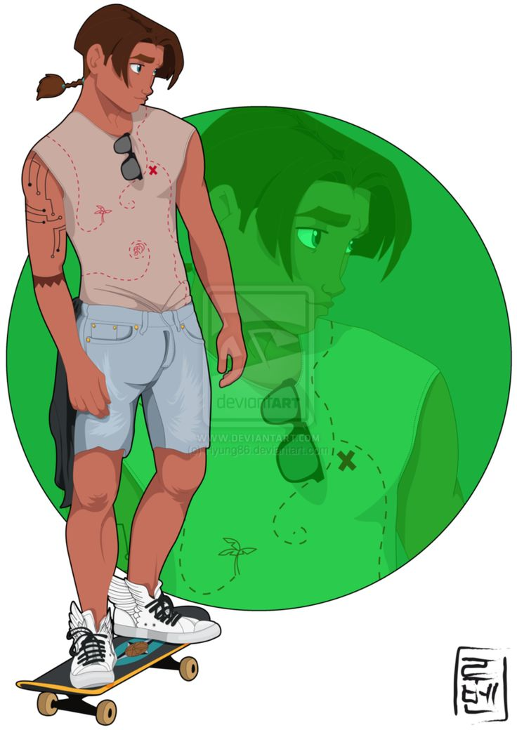 The best friend of Tarzan, the second skater in this University Jim Hawkins is always looking for some kind of treasure.