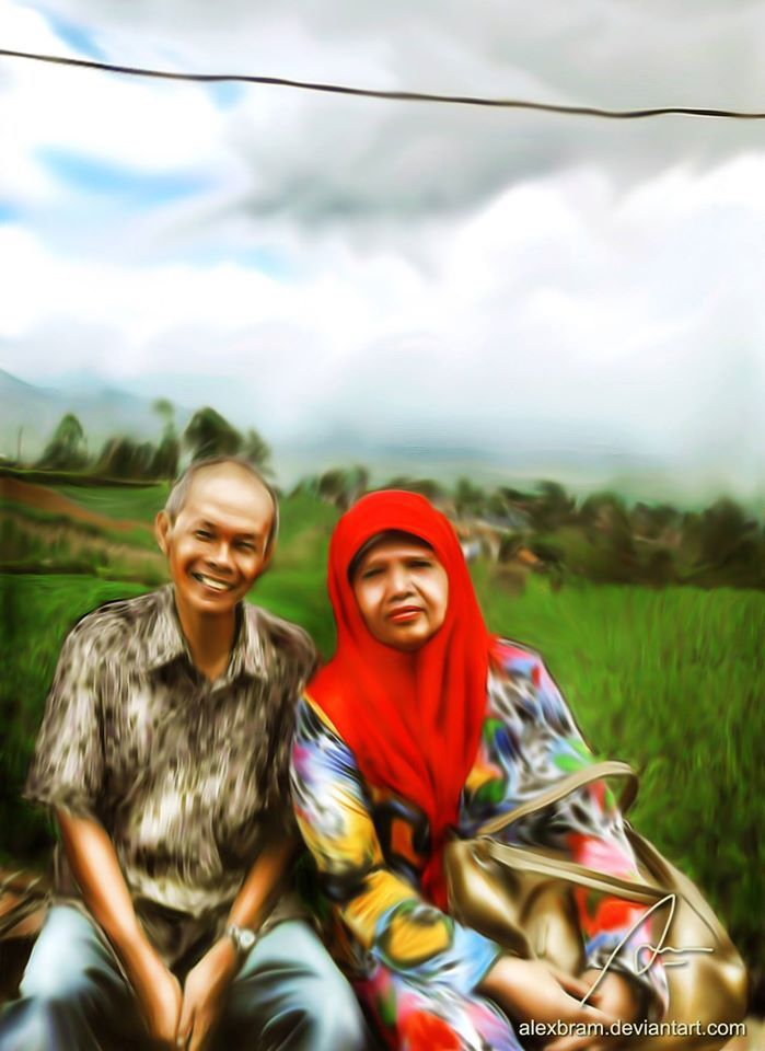 """""""My In Law"""" at Darajat Highland, Garut (West Java) #SmudgePainting"""