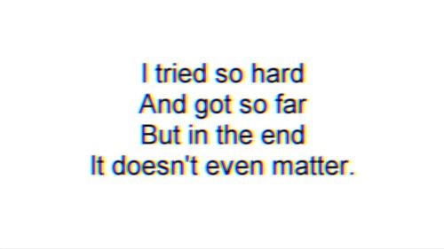 In The End - Linkin Park lyrics