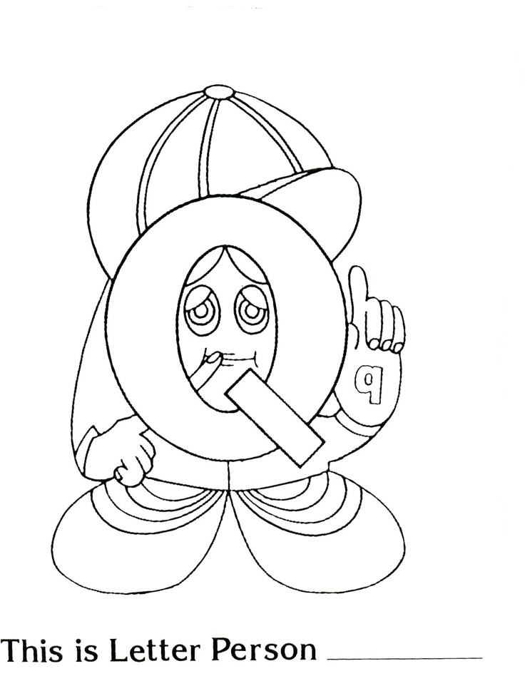 Printable Letter Q Coloring Pages : 22 best the letter people images on pinterest