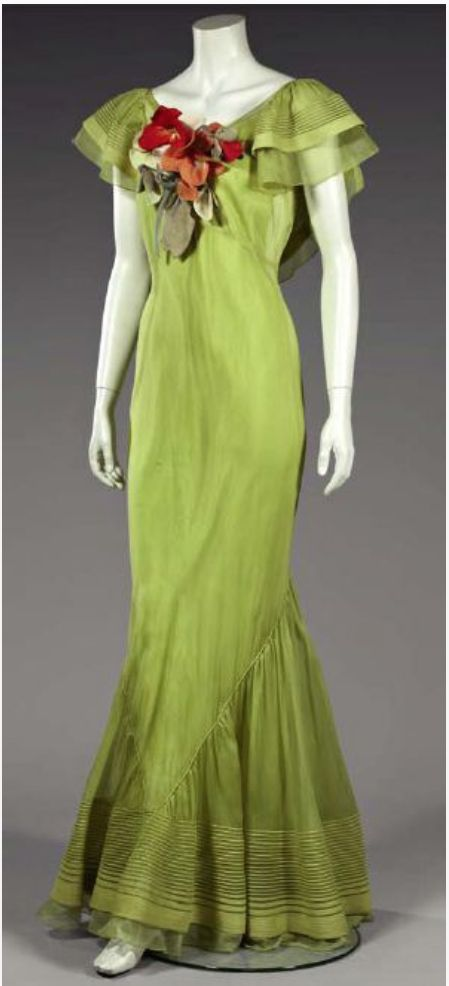 Ballgown by Germaine Monteil, early 1930s France