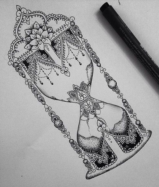 31 of the Prettiest Mandala Tattoos on Pinterest | Swirled Hourglass