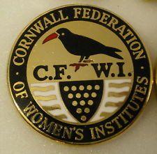 Enamel Pin Badge CORNWALL FEDERATION 0F WOMEN'S INSTITUTES C.F.W.I.