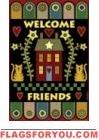 Pennyrug Welcome Friends Garden Flag - 1 left