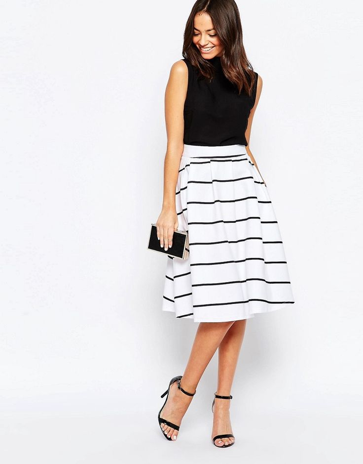 17 best ideas about Midi Skater Skirt on Pinterest | Midi skirt ...