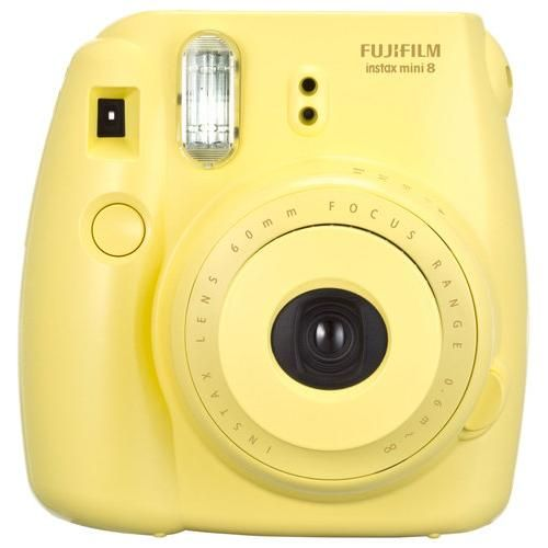 Fujifilm - instax mini 8 Instant Film Camera - Yellow - Larger Front