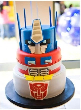 20 Transformers Birthday Party Ideas We Love: This Transformers birthday cake is impressive!