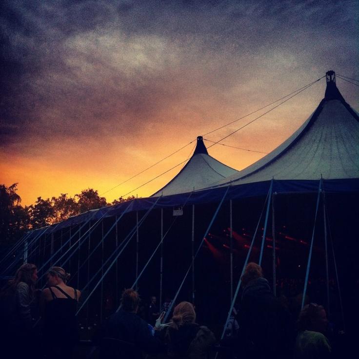 #Roskilde #Festival #Sunset