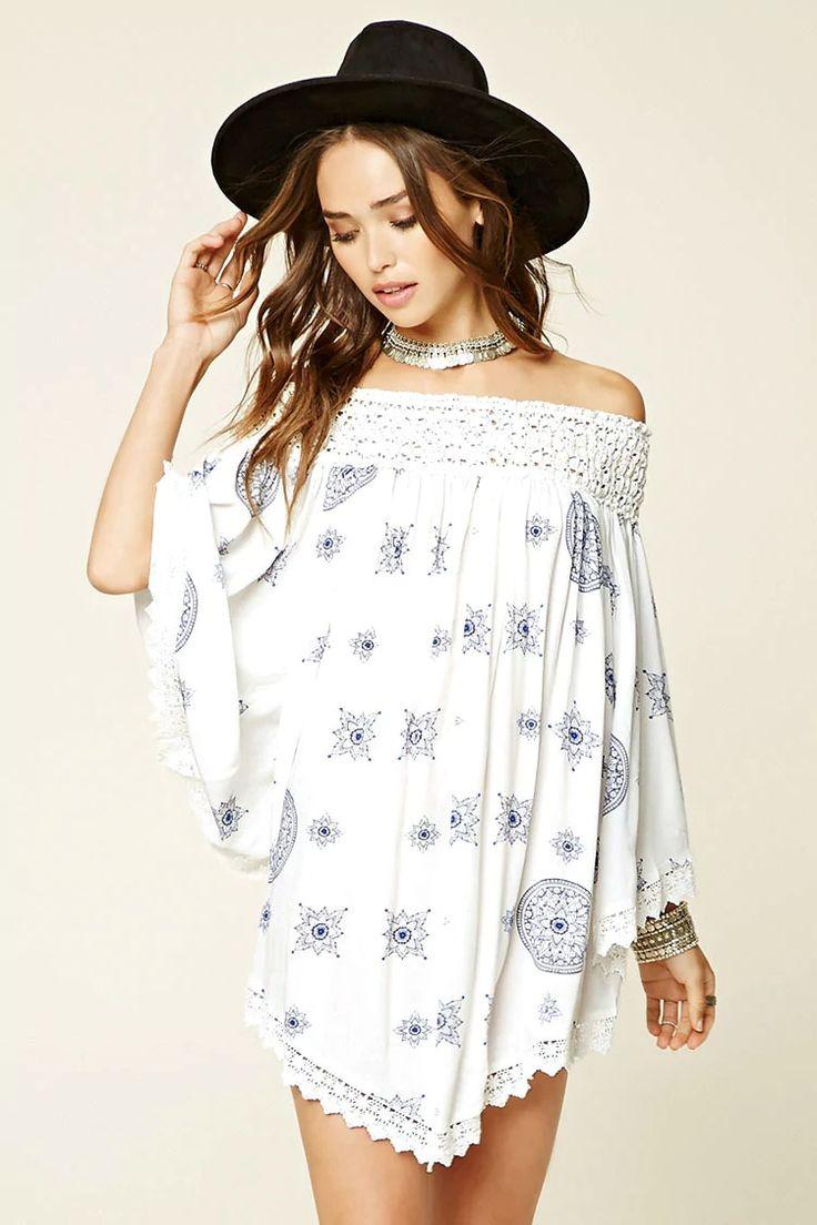 A woven off-the-shoulder dress by Selfie Leslie #f21brandedshop