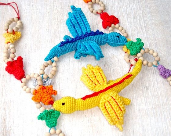 Dragon Nursing teething necklace MADE TO by MiracleFromThreads