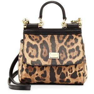 Dolce & Gabbana Miss Sicily Mini Leopard-Print Crossbody Bag
