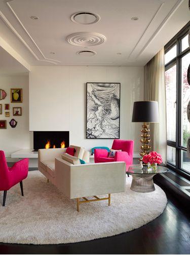 Pink sofa, Pink furniture, Pink Decor, Living room, Decor, Room makeover, Modern decor, Contemporary furniture, Mid century furniture   bocadolobo.com/ #livingroomideas #livingroomdecor
