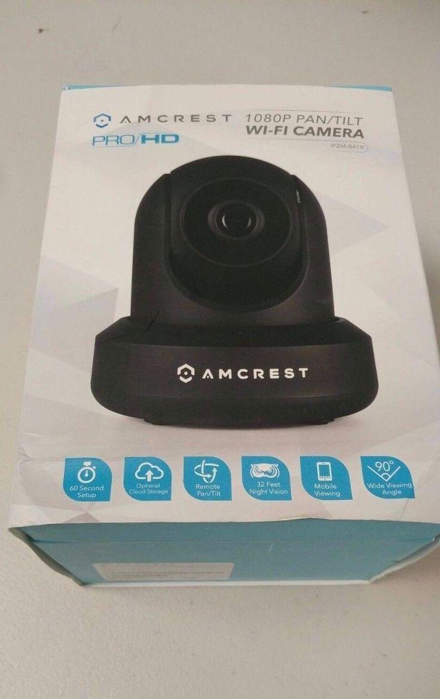 BRAND NEW AMCREST PRO HD1080P PAN/TILT HD WIFI WIRELESS SECURITY CAMERA BLACK !!