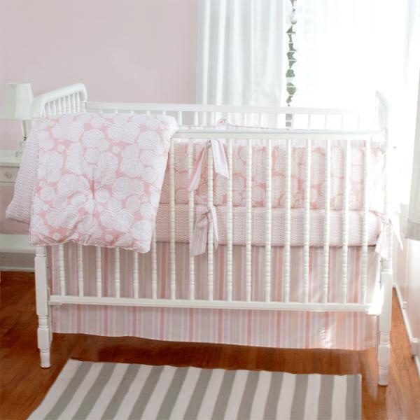Annette Tatum Rose Coral nursery bedding
