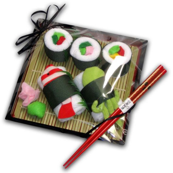 Deluxe Washcloth Sushi for Baby c  Octopus and Fish  as par jkalea