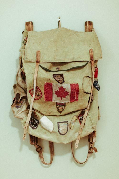 Vintage Canada backpack.