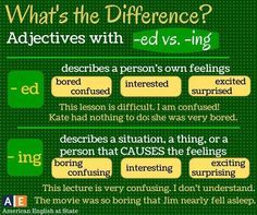 -ED AND -ING ADJECTIVES | My English Blog