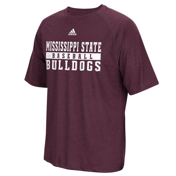 Mississippi State Bulldogs adidas Baseball Practice Performance T-Shirt - Maroon - Fanatics.com