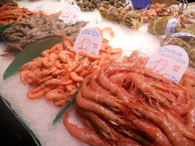 The seafood is super fresh at this Barcelona market.