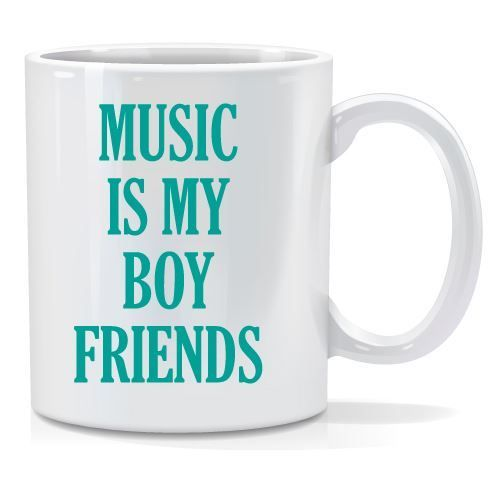 Tazza personalizzata Music is my boy friends
