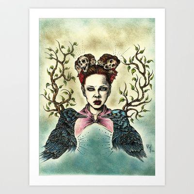 """""""Total Garbage"""" Art Print by Magdalena Sky - $22.88"""