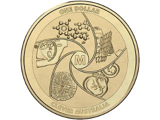 Medi-mazing $1 uncirculated coin. In UNESCO's International Year of Crystallography, the Royal Australian Mint joins the celebrations with a fun and informative coin. The first in a three-coin series called 'Clever Australia', this coin focuses on medical breakthroughs made by Australians. #coincollecting