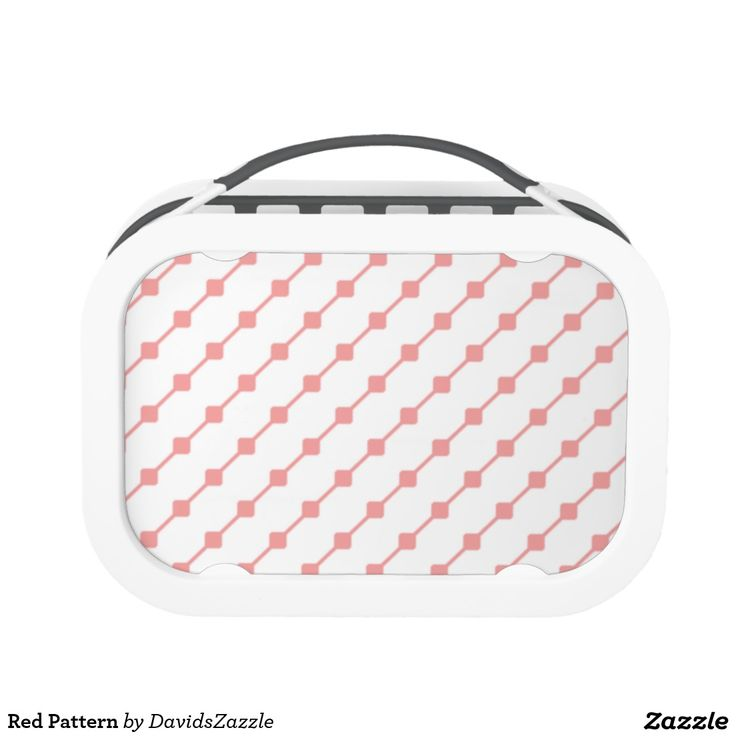 Red Pattern Lunch Box  Available on many more products! Type in the name of this design in the search bar on my Zazzle products page!   #abstract #art #pattern #design #color #accessory #accent #zazzle #buy #sale #kitchen #dining #home #decor #entertain #serving #guest #food #foodie #apartment #dorm #student #accent #living #modern #chic #contemporary #style #life #lifestyle #minimal #simple #plain #minimalism #square #line #white #red