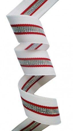 striped lurex ribbon
