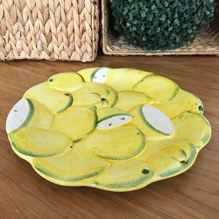 BASSANO KERAMIK  TELLER 28 CM ZITRONE 3D MOTIV AUS ITALIEN NEU in Möbel & Wohnen, Kochen & Genießen, Gedeckter Tisch   eBay!