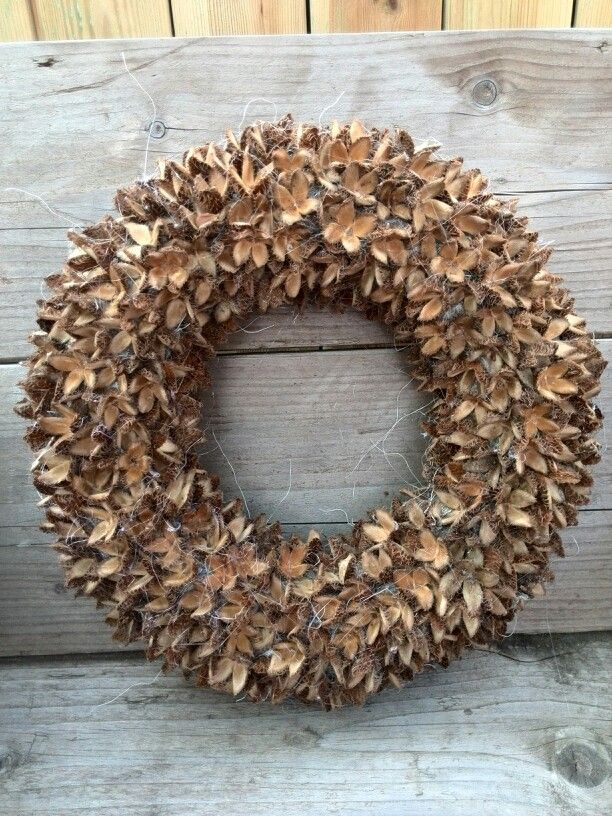 Herfst inspiratie - Beukennootjes krans - Wreath with beechnuts - Autumn decor