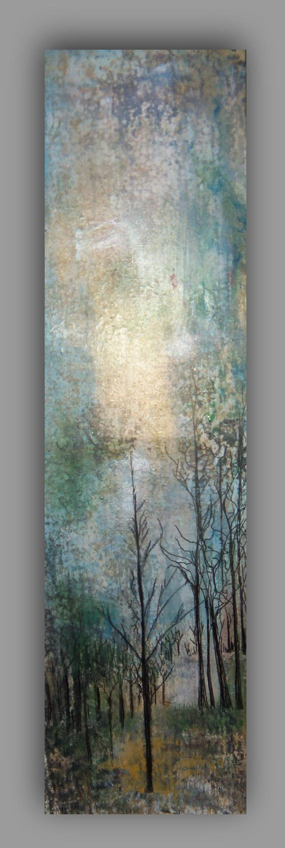 Original Treescape Two Mixed Media My Presence Walk by sherischart, $71.95  Two Painting Illustrations  Walk with Me & My Presence Forest Series I , II http://www.etsy.com/shop/sherischart fine art paintings