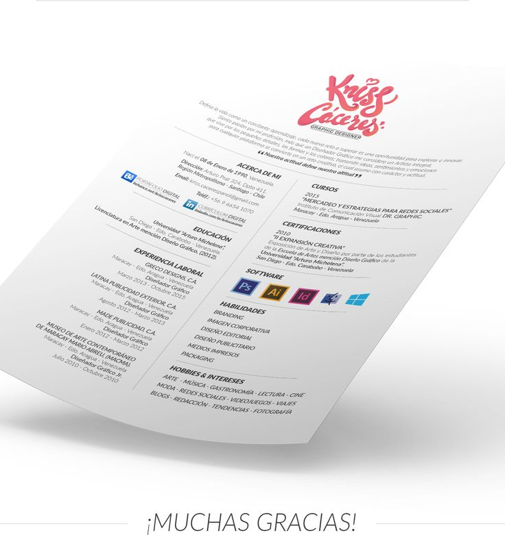 Graphic Design Resumes 94 best Creative Resumes