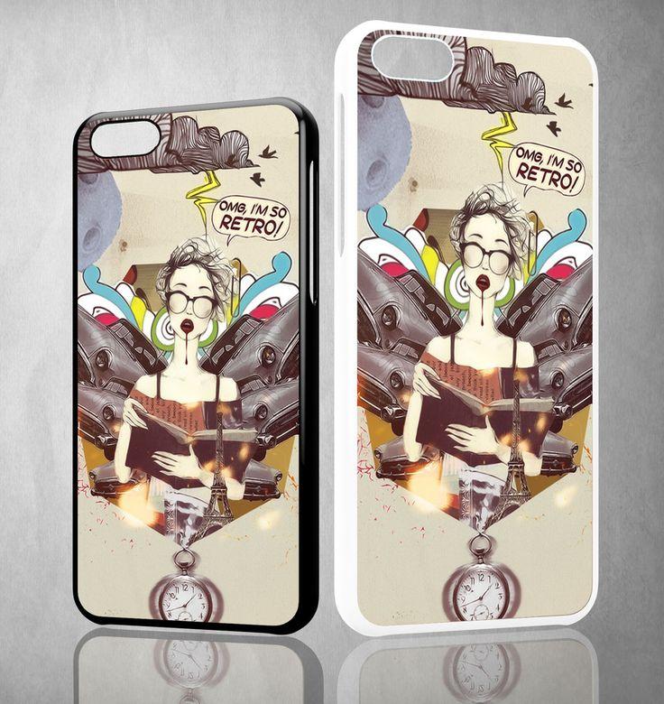 OMG I'm So Retro WALLPAPER Y1317 iPhone 4S 5S 5C 6 6Plus, iPod 4 5, LG G2 G3 Nexus 4 5, Sony Z2 Case