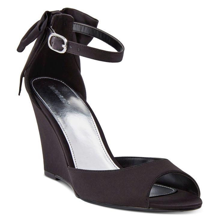 Women's Hadia Wedge Dress Sandals Black 6.5 - Tevolio