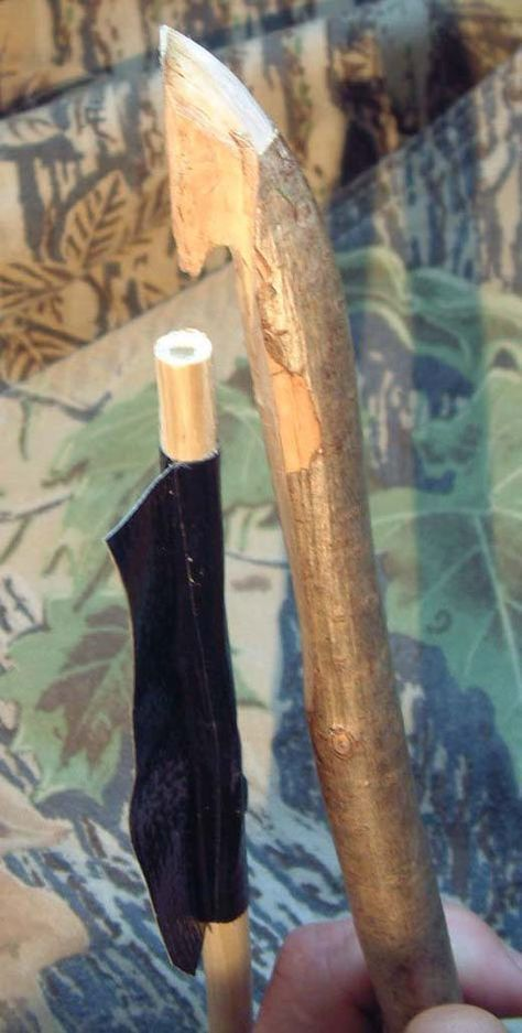 How To Make A Very Simple Atlatl Or Ancient Spear Thrower Tutorial | Badger Bushcraft