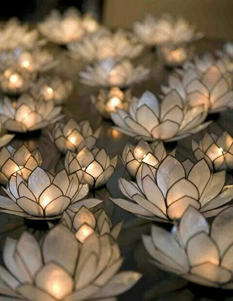 Lotus tea light candle holders