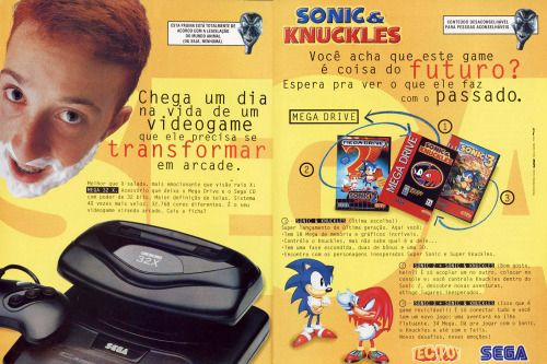 videogameads: MEGA 32X AND SONiC & KNUCKLES AD Ask me...