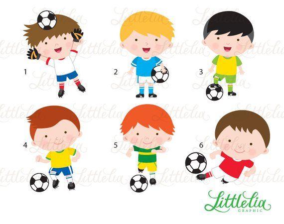 Soccer Boys Clipart Soccer Clipart 15093 Etsy Soccer Boys Little Boy Drawing Clip Art