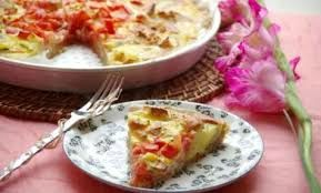 QUICHE DE POMMES DE TERRE AU CURRY .