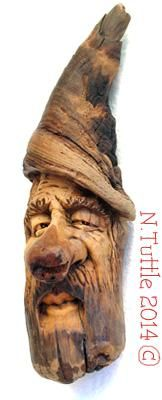 """""""Having a Mood""""    Just over 5¼ inches tall and 1¾ inches across his widest point.  Signed and dated:   N. Tuttle 10/3/14"""