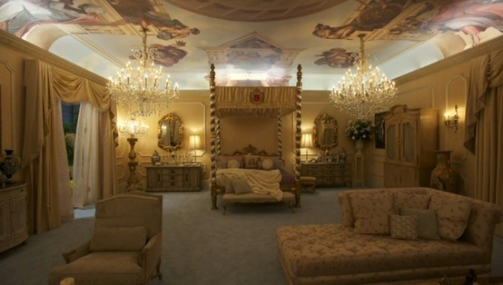 "Astek printed custom ceiling murals for HBO's new film ""Behind the Candelabra"" to re-create Liberace's Las Vegas home."