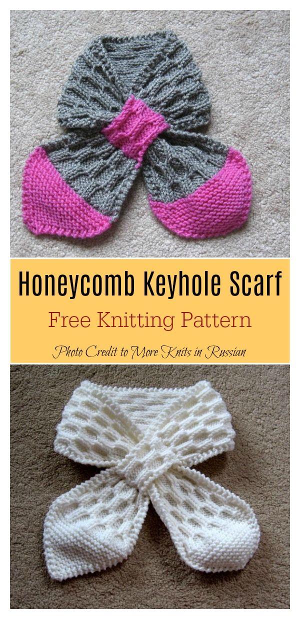 Self Fastening Keyhole Scarf Free Knitting Pattern en 2018 | Dos ...