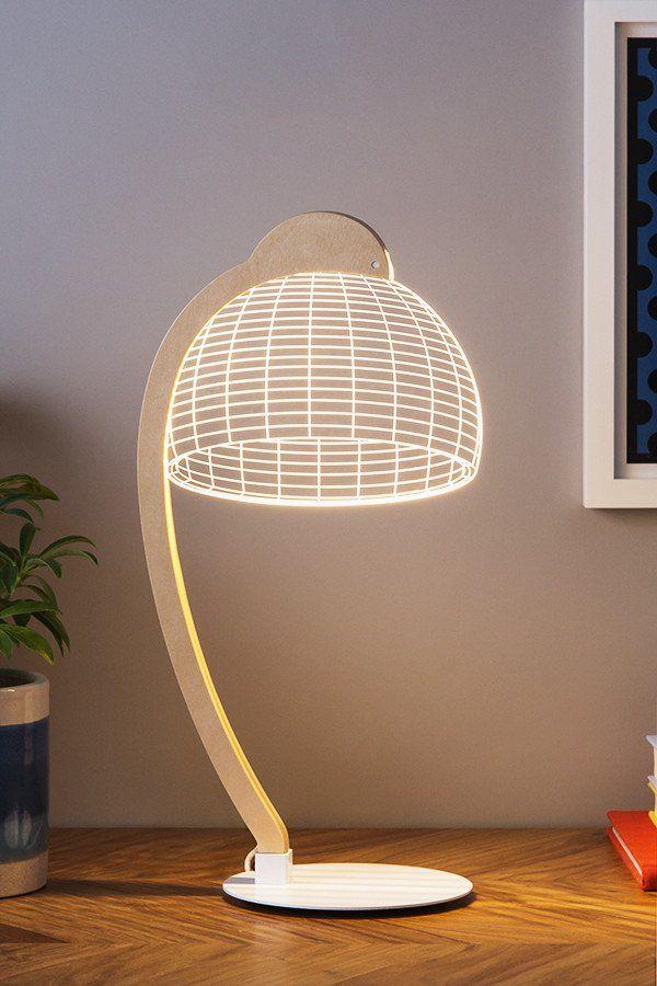 Bulbing 3d Illusion Lamp By Studio Cheha 3d Illusion Lamp Lamp 3d Led Lamp